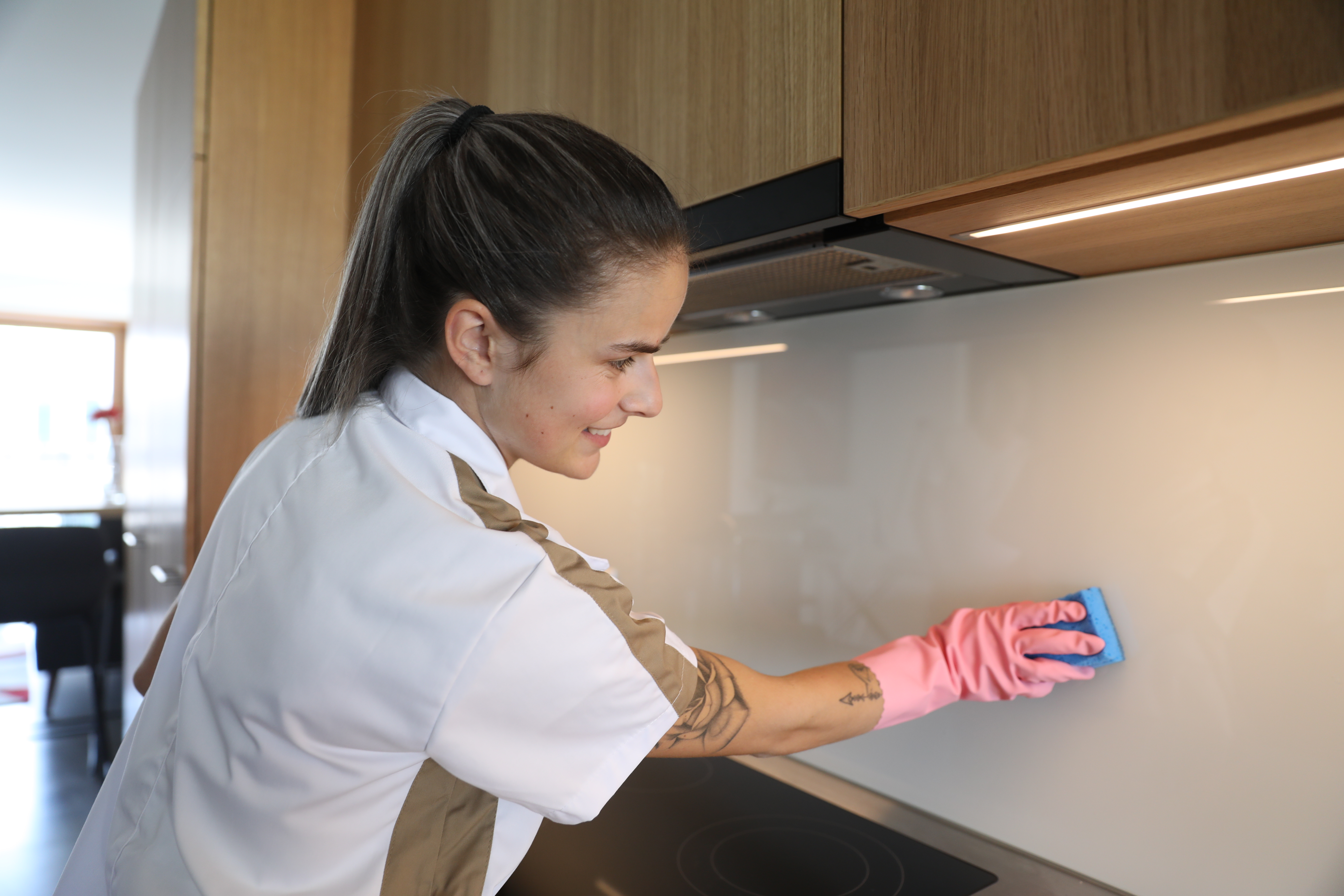 Crown Facility - Cleaning Kitchen Wall